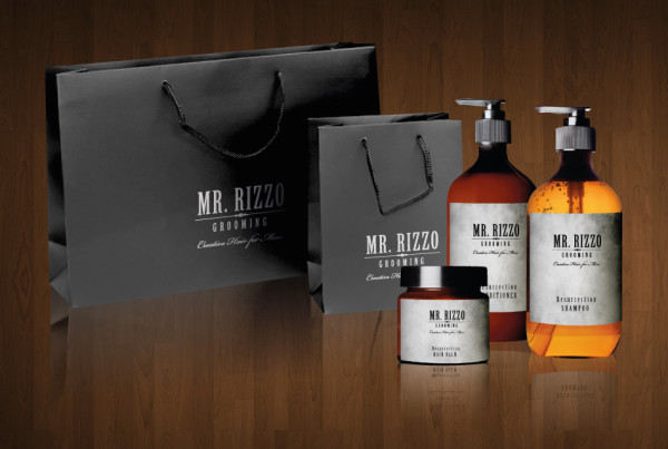 Mr Rizzo Grooming Product Packaging Design