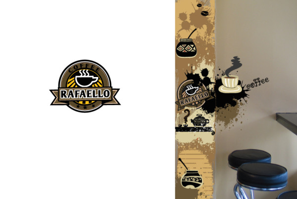 Rafaello Cafe Logo and Interior Wallpaper