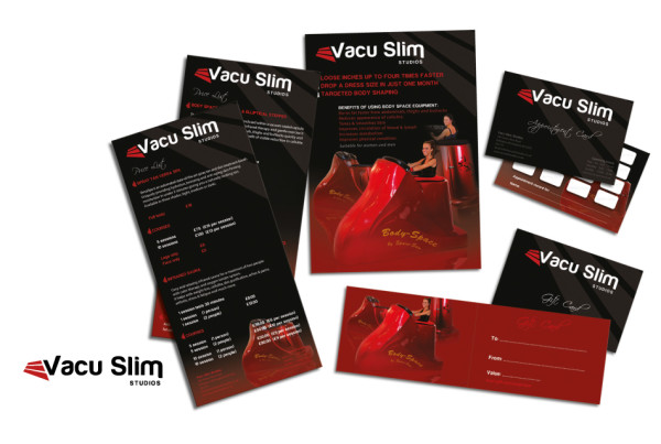 Vacu Slim Logo and Marketing Mater